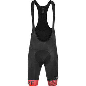 GORE WEAR C5 Optiline Bib Shorts Heren, black/red